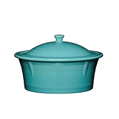 Homer Laughlin 107-1466 Covered Casserole, Turquoise