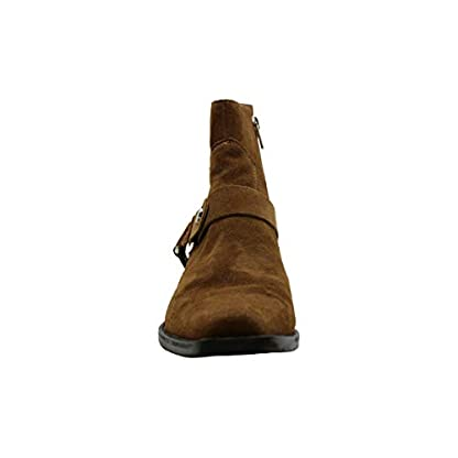 DKNY Womens Mina Suede Almond Toe Ankle Fashion Boots, Brown, Size 3
