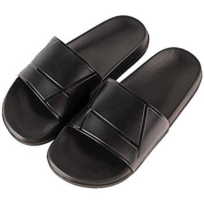 Hangrui Women Shower slide sandal, Men's Beach and Pool shoes, Lightweight Comfortable open-toe cute house unisex slippers