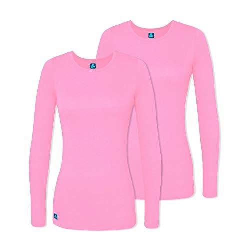 Adar 2 Pack Women's Comfort Long Sleeve T-Shirt/Underscrub Tee - 2902 - SBT - S ()