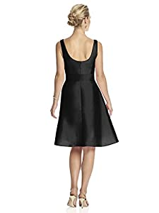 Women's Cocktail V-neck Dress with Circle Skirt by Alfred Sung