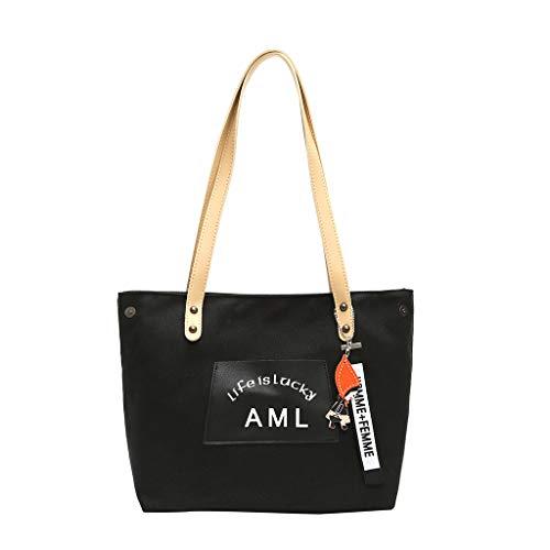 (HongMong Women canvas Messenger Bag Lady girl travel student school Crossbody Bag)