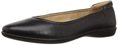 Naturalizer Women's Flexy Ballet Flat, Black, 7.5 M US