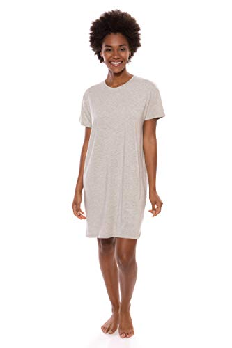 (Texere Women's Jersey Sleep Shirt (SoHome, Heather Platinum, 2X) Warm PJs)