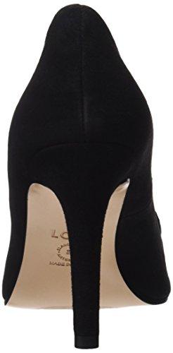 lodi Mujer Para Ante Negro Cerrada de Punta con Zapatos Rafania Tacón Negro 8vBqr08w