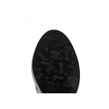 amp;xuezi Bottes Confort Aiguille Similicuir black 10 cm 12 Décontracté Nouveauté Botillons Automne Blanc Noir Talon GLL Hiver Femme à Fermeture fEqnxdd