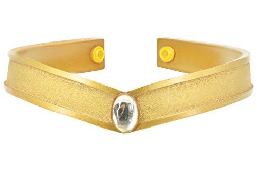 DAZCOS Gold Cosplay Tiara Queen Headwear Props Resin (Minako Aino)