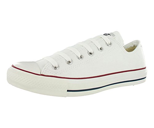 Converse Unisex Chuck Taylor All Star Low Top Optical White Sneakers - 6 D(M) US