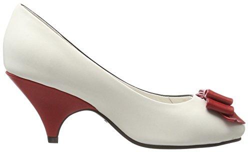 Ramona 44 Tacón Cerrada Negro Punta Red Lola Zapatos Mujer Lola con Cream de para Black Zdw6agq
