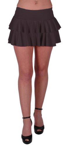 Amber Neon Ruffle Short Club Party Slinky Skirt Medium / Large