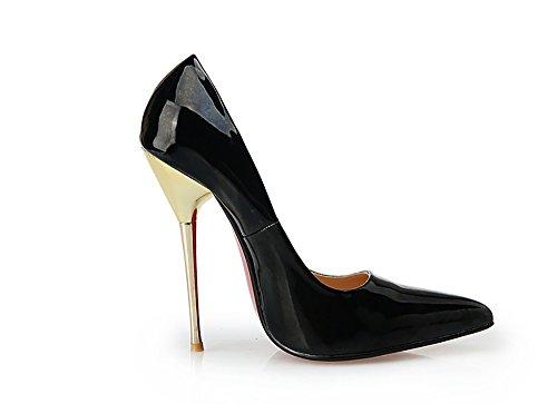 Pumpen Slip Stiletto Schuhe Spitzen Zehe GFYDC Fein on Klassischen Für Frauen Heel High Geschlossenen Kleid Metall mit adwqqgxOtf