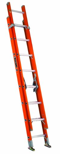 Single Section Ladder - Louisville Ladder FE3216 Fiberglass Extension Ladder 300-Pound Capacity, 16-Feet