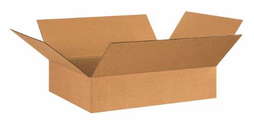 Aviditi 26206 Flat Corrugated Box, 26'' Length x 20'' Width x 6'' Height, Kraft (Bundle of 20) by Aviditi