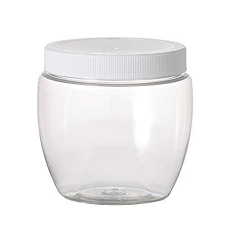 12 Pack of Plastic Jars - 8 oz Pet Venetian Style - 70mm Neck Size - Lot of 12