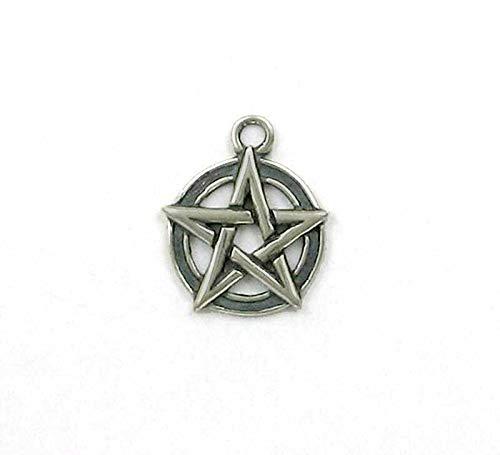 Pendant Jewelry Making/Chain Pendant/Bracelet Pendant Sterling Silver Pentagram Charm