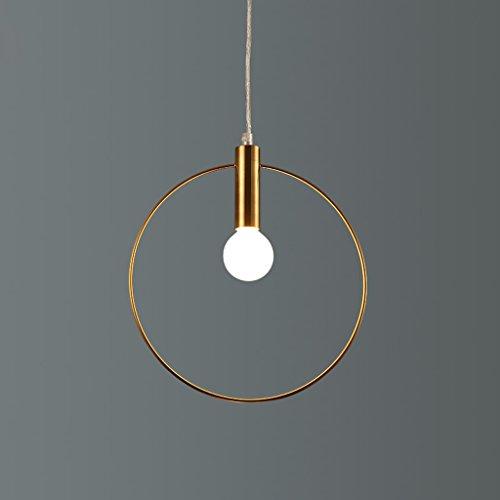 Baycher Modern Simple Restaurant Chandelier Gold Metal E14 Corridor Circle Ceiling Pendant Lamp Bar Cafe Iron Hanging Lights,Adjustable (Size : Diameter-20cm) by Baycher
