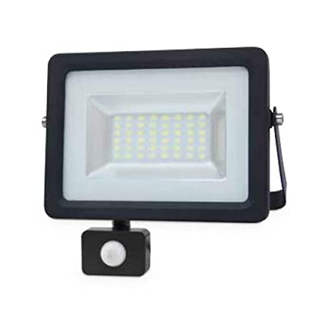 Proyector LED con Sensor 20W 6000K IP65 Negro GSC 0704732: Amazon ...