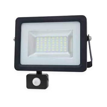 Proyector LED con sensor 10W 6000K IP65 Negro GSC 0704731 ...