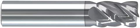 Round Shank Type Single End Corner Radius Carbide End Mill 2.2500 OAL RE24703Z 4 Flute .7500 LOC .0300 Radius .1250 AlTiN Coated 1//8 RedLine Tools