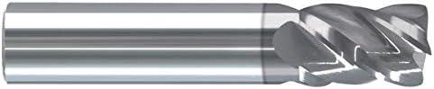 RE20207Z Round Shank Type 4 Flute 1.5000 LOC .0900 Radius AlTiN Coated .7500 6.0000 OAL Single End Corner Radius Carbide End Mill 3//4 RedLine Tools