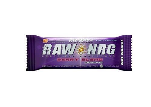 - RAW NRG® - Berry Blend // Antioxidant Nutrition Bar, NO Preservatives, Gluten Free, Soy Free, Dairy Free, Vegan (12 Count)