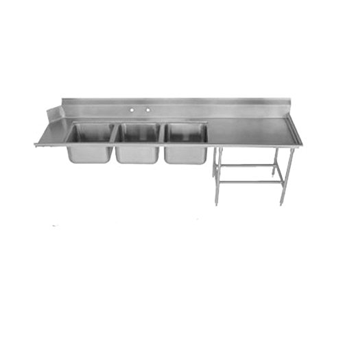 Advance Tabco DTC-3-1620-84R Dishtable 3 Compartment Sink With 16