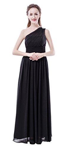 black one strap bridesmaid dresses - 1