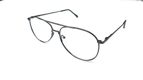 PEACHTREE by CAPRI WALNUT Aviator Eyeglasses Frame Antique Silver 57/13 145 (Glass Audio Silver)