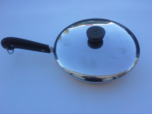 Vintage (Pre-1968) Revere Ware Copper Clad 8-Inch Skillet with Lid (Handles Revere Ware)