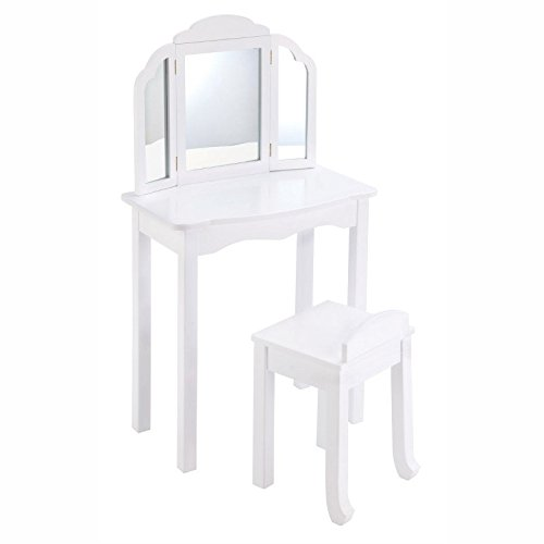 Guidecraft Expressions Vanity& Stool in White by Guidecraft