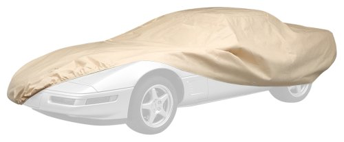 Covercraft Tan Cover - Covercraft C78004RB Ready-Fit Deluxe 380 Series Long Car Cover, Tan