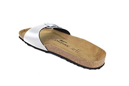 Silver Metallic JOE Souple Sandals JOYCE N Semelle Étroit Porto Synsoft w6qv6zC
