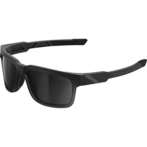 100% Type-S Sunglasses Soft Tact Black W/Smoke Lens, One Size - - Of Mens Sunglasses Types