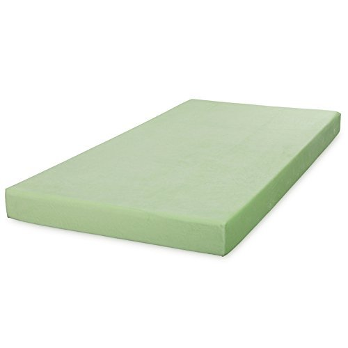 Comfort & Relax Memory Foam Mattress 5 Inch Twin for Bunk Bed, Trundle Bed, Day Bed, Light Green