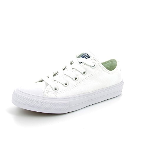 Converse Chuck Taylor All Star II Junior White Textile Trainers BLANCO