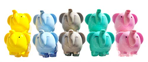 AARainbow Pack of 10 Pencil Sharpener, Cute Elephant Sharpener with Screw-on lid, Compact Size for Pencil case and Work-Station,School Home Using for kids -
