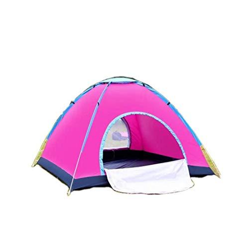 LUHUIYUAN Zelt Outdoor Automatisches Campingzelt Doppeltür tragbares Zelt 3-4 Personen Geschwindigkeit offenes Handwerfen Campingzelt