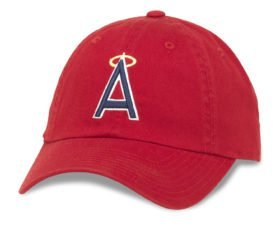 f781104760a Los Angeles Angels of Anaheim MLB Baseball Cap One Size American Needle  Cotton Twill Red