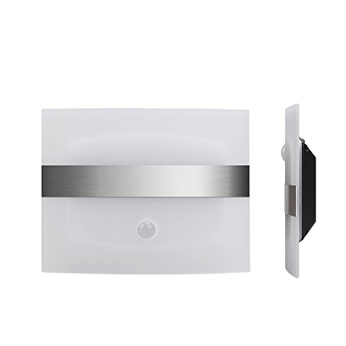 Derlson Stick on Anywhere Motion Activated Wall Sconce,Wall Light, (Auto On/Off) LED Night Light for Hallway, Pathway, Staircase, Garden, Drive Way (Battery Operated,Warm Light)