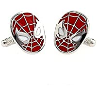 Cufflinks oval Marvel Spider-Man for Gift with Elegant Box (20x15mm)