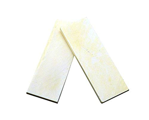 Aibote 2pc Natural Bovine Bone Knife Handle Scales Slabs for Knife Making Blanks Blades Custom DIY Material Tools(3.74
