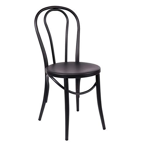 - Design Lab MN LS-9902-BLK Bentwood Steel Dining Chairs, Black