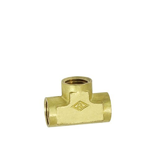 NIGO Brass Pipe Fitting, Forged Brass Tee, 1/4
