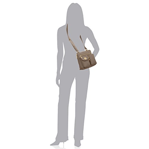 for and Functional Women Baggallini Purse Organizational for Outfit Lightweight Highly Any Melburne Crossbody Potobello Design and Durable Perfect BBY60