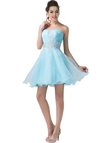 Vimans Damen A-Linie Kleid blau blau