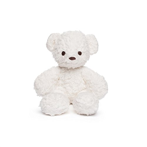 Bears For Humanity Organic Baby Sherpa Bear Teddy, White, ()