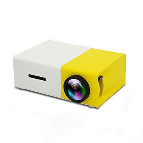 QTT Mini Projector, Handheld Portable Mini Home LED Remote Control Projector (Yellow White) from QTT