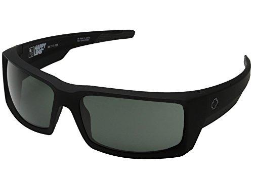 Spy Optic General Sunglasses Matte Black with Grey Green Lens + Spy - Optics Spy Stickers