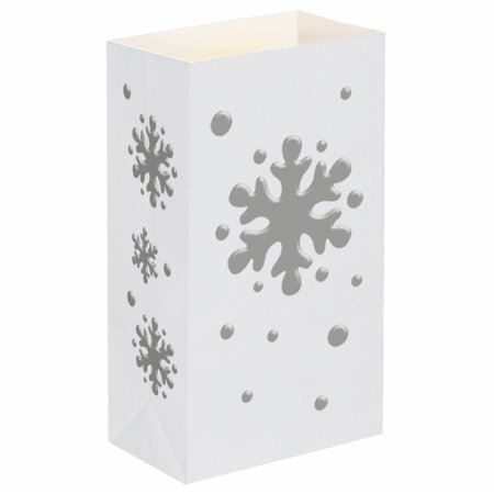 Luminaria Bags- Snowflake 24 Count by JH Specialties
