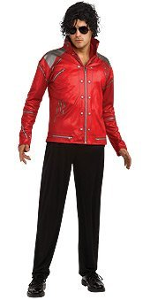Rubie's Costume H/S Beat It Red Zipper Jacket, X-Large, X-Large (Michael Jackson In Red Jacket)